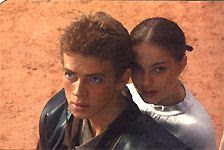 Anakin and Padme in the Geonasis arena