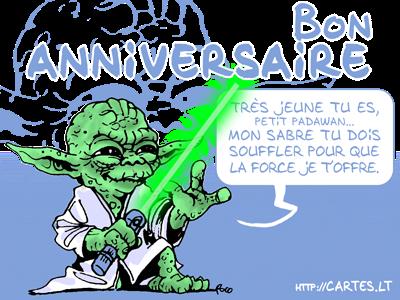 Carte Anniversaire Yoda.Texte Anniversaire Maitre Yoda