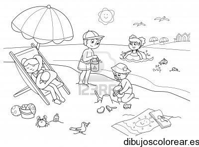 Dibujo De Un Día En La Playa