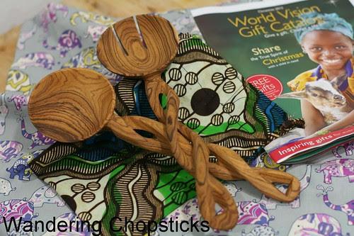 World Vision Hand-Carved Kenyan Olive Wood Serving Spoons Giveaway 1