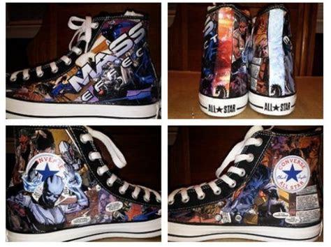 Custom Made Mass Effect Converse Shoes   Geek Fashion