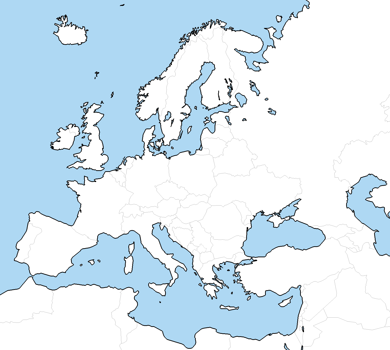 DeviantArt: More Like Blank Map of Europe with layers by Fenn-O-maniC