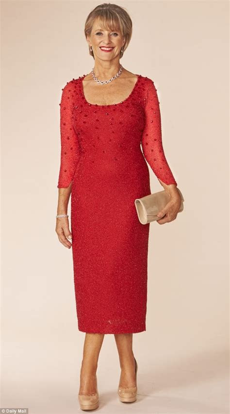 dress     middle aged woman  drop