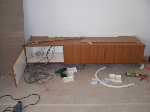 TV Console in Master Bedroom