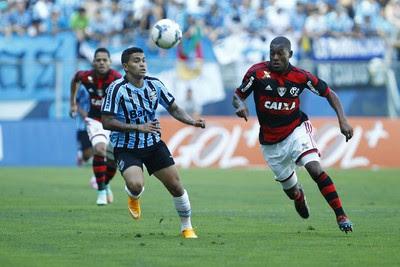 Dudu atacante Grêmio (Foto: Lucas Uebel / Grêmio FBPA)