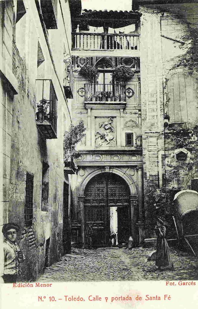 Convento de Santa Fe a comienzos del Siglo XX. Foto Garcés