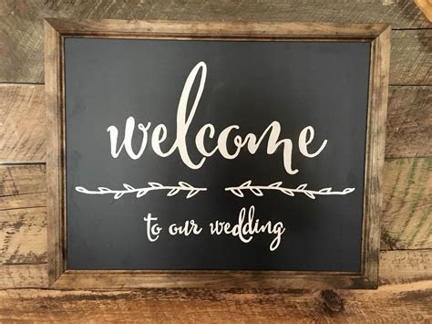 Welcome To Our Wedding Sign   Splintered Design Splintered