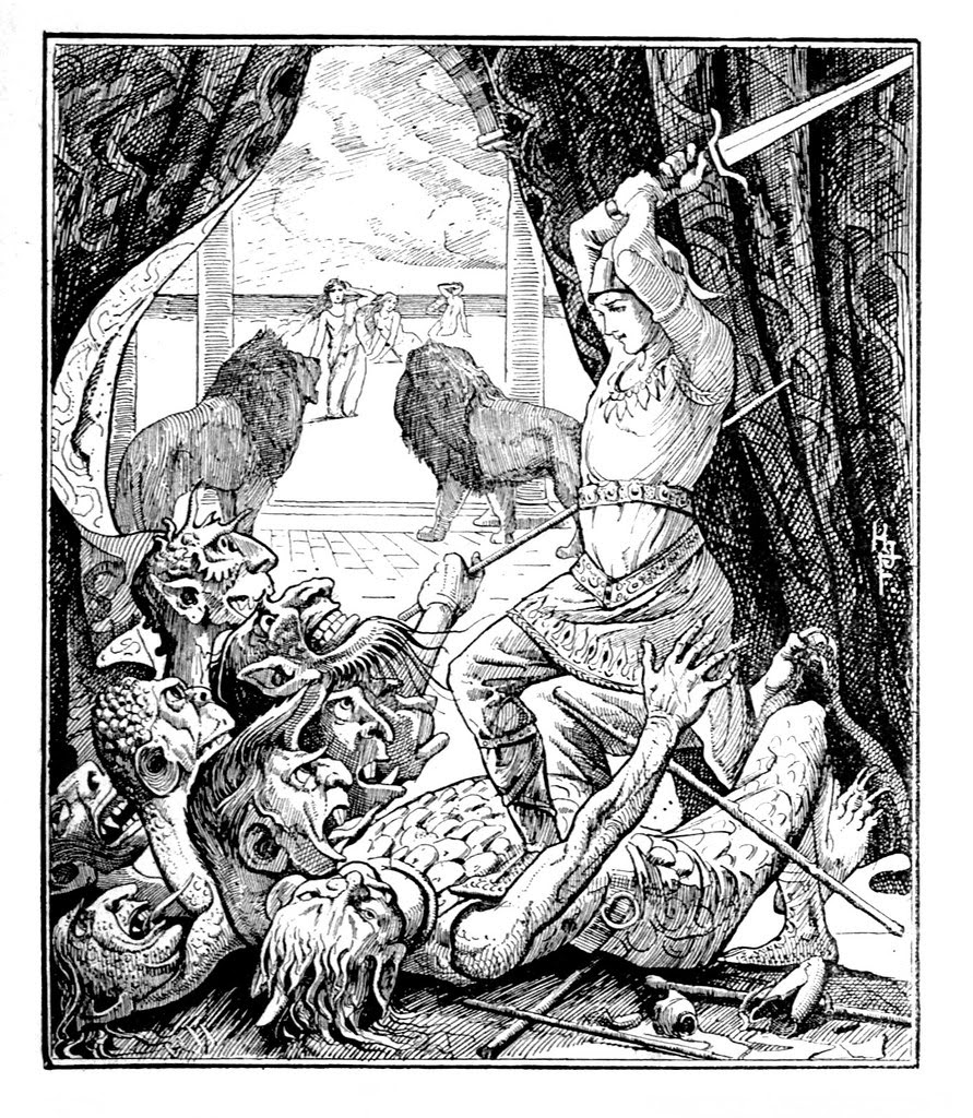 Henry Justice Ford - The red fairy book, edited by Andrew Lang, 1890 (illustration 1)