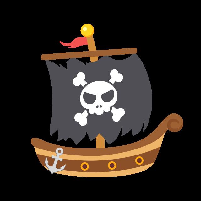 海賊船の無料ベクターイラスト素材 Picaboo ピカブー 無料