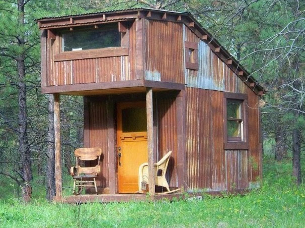 Charles Finn s Micro Cabin Built with Reclaimed Materials