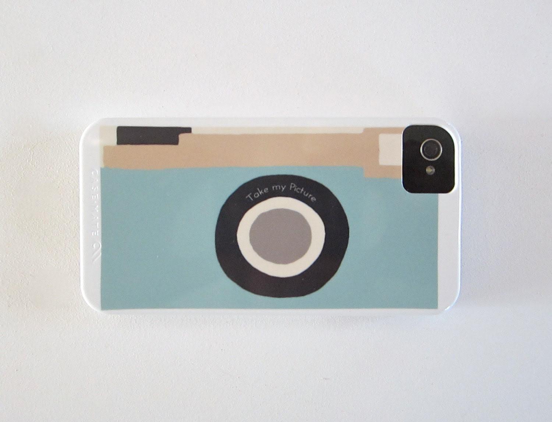 Camera Blue Vintage Retro  IPhone 4/4s case Modern aqua cockatoo redtilestudio