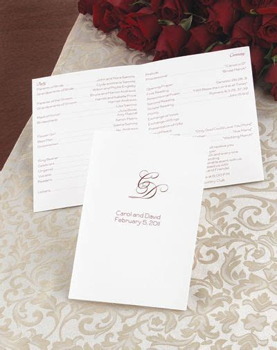 create your own wedding program   Stuff   Pinterest