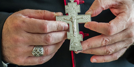 The pectoral cross of Archbishop Paulos Faraj Rahho (Catholic Weekly)