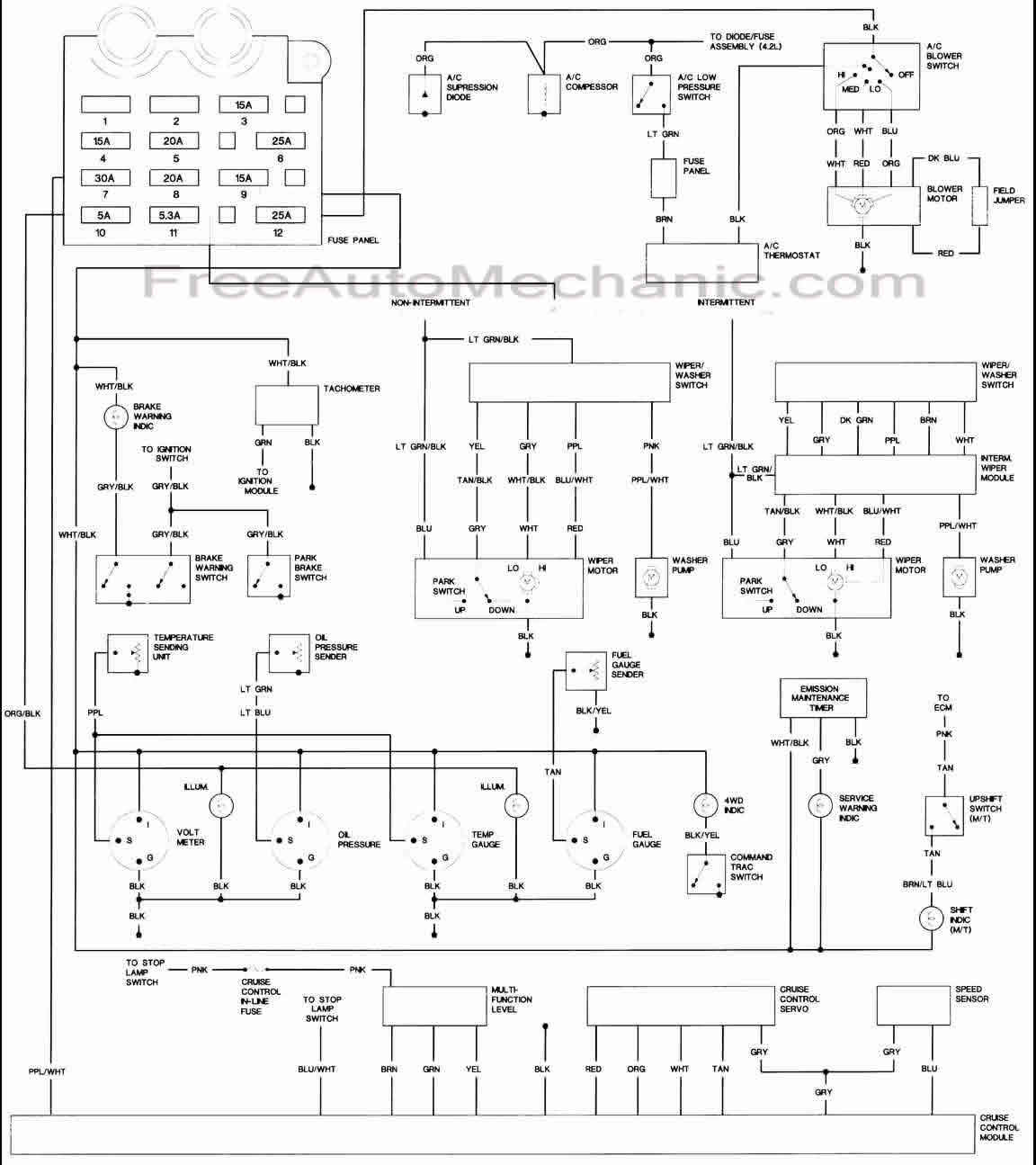 1987 jeep yj wiring diagram schematic image 2