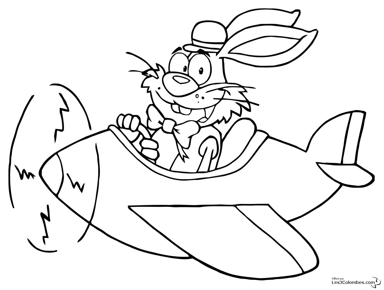 Coloriage de lapin  imprimer
