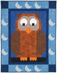 Patch Pals from Quiltmaker: This is Hoo Patch from Sept/Oct '11. Still available: http://www.quiltmaker.com/patchpals.html