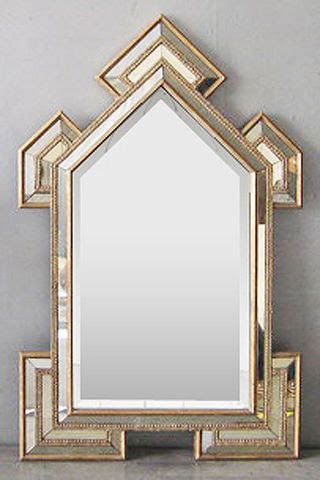 Art Deco Cathedral Mirror - modern - mirrors - by Glam Furniture