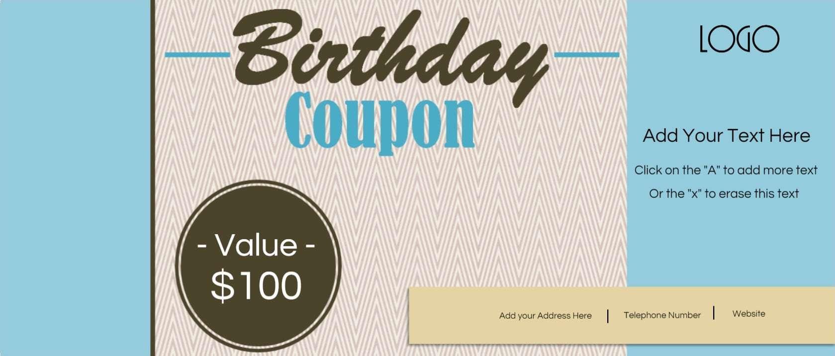 birthday coupons 5