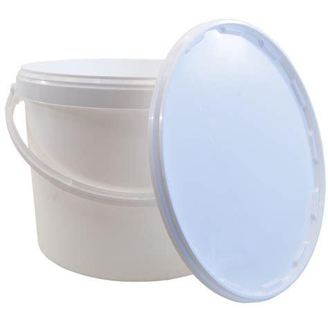 litre food grade plastic bucket  lid balliihoo