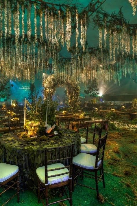 Forest Themed Wedding Reception. I would have LOVED this
