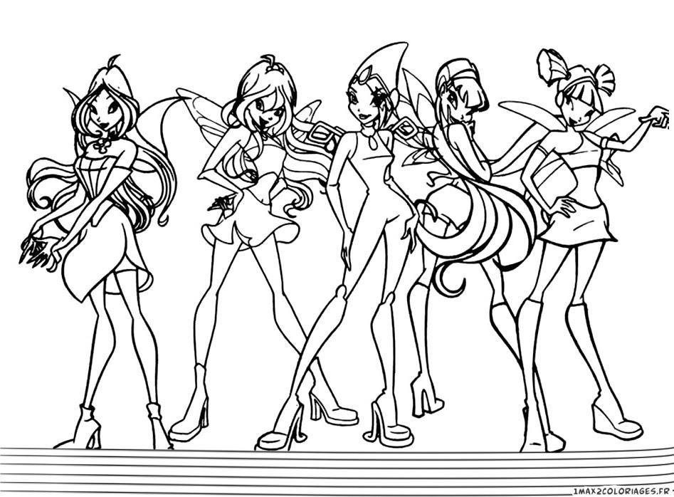 Coloriage Winx Club Les Personnages Des Winx A Imprimer