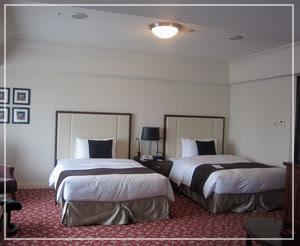 帝国ホテルのプレミアデラックスのお部屋。広々~♪