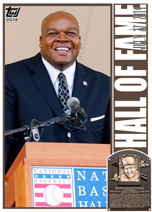 "twjcards:<br /><br />One of the finest sluggers of the 1990s, Frank Thomas was feared by pitchers across baseball. ""The Big Hurt"" was immortalized by the National Baseball Hall of Fame today, selected by 83.7% of the voters for enshrinement.<br />Congratulations, Frank Thomas.<br />Special card, unnumbered, Frank Thomas, ""HALL OF FAME.""<br />The Writer's Journey<br />"