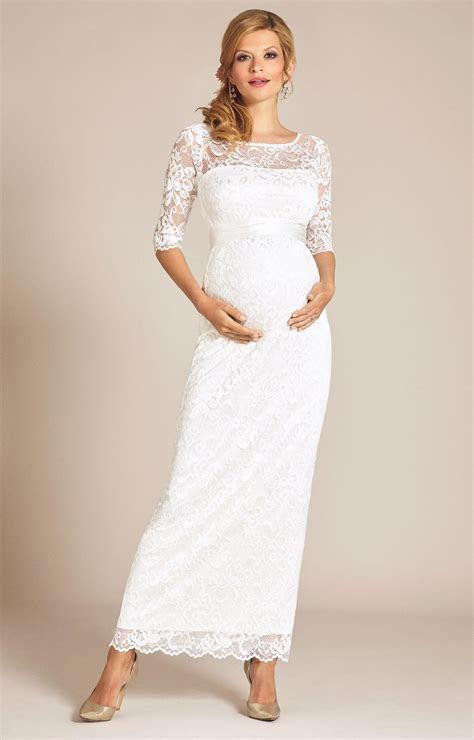 Amelia Lace Maternity Wedding Dress Long (Ivory