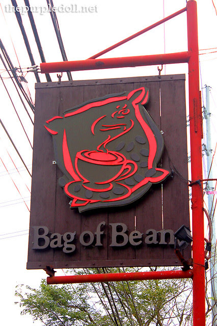 Small Bag of Beans Signage