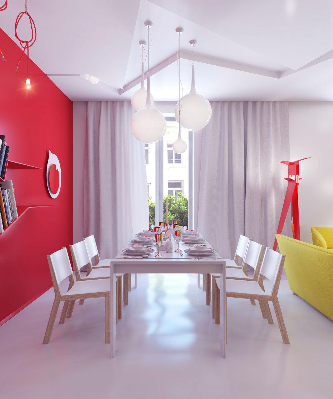 Bright Color Small Apartment Decor Ideas - Interior Design ...