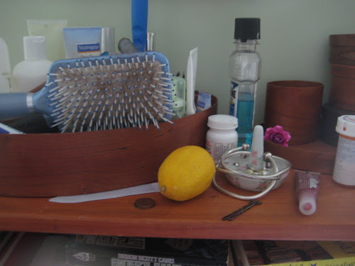 Lemon on my dresser