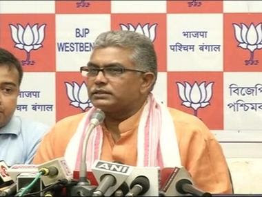 File image of BJP leader Dilip Ghosh. News18