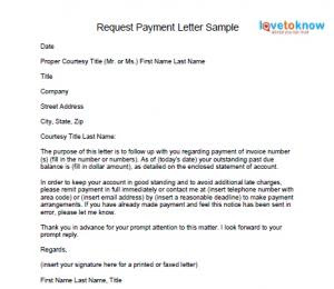 of payment letter for consideration late template letter template letter 2017 payment request