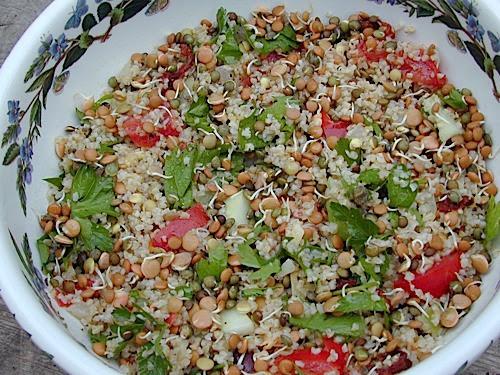 Lentil Bulgur Salad