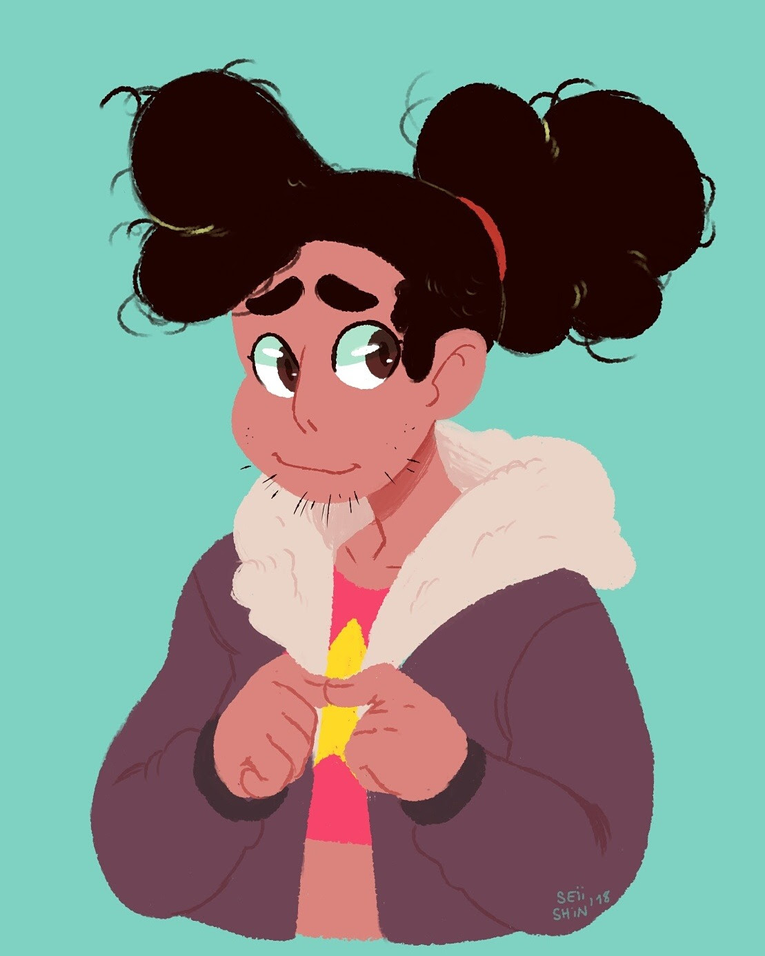 Stevonnie with stubble is such a blessed thing;;;