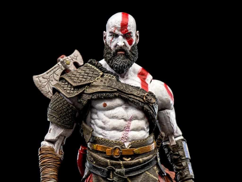 Download 1024x768 wallpaper kratos, god of war, warrior ...
