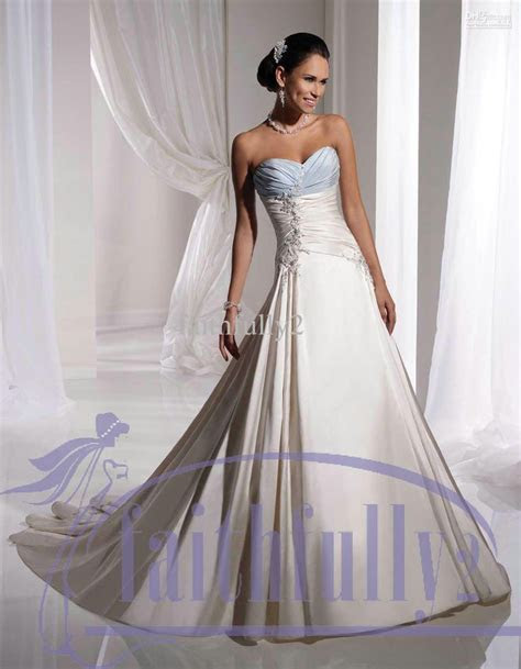 Wholesale Wedding Dresses   Buy Unique Sky Blue And White
