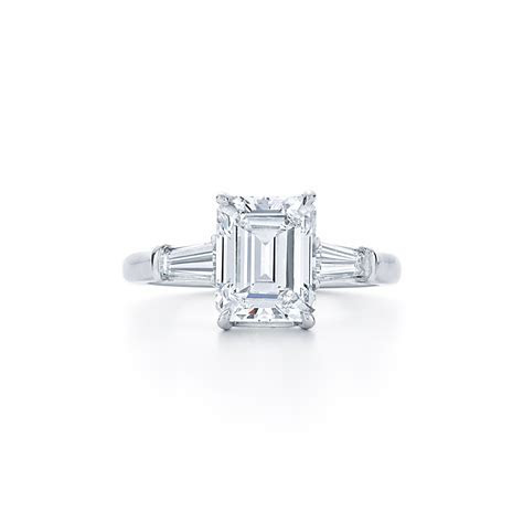 Emerald Cut Diamond Engagement Ring   DK Gems