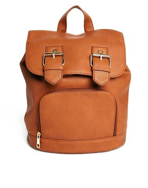 Image 1 of ASOS Backpack with Double Buckle Detail