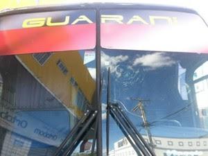 Polícia investiga vandalismo contra veículo do clube (Foto: Guarani de Juazeiro/Divulgação)