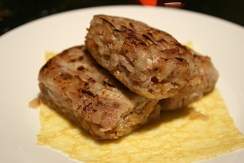 Pan-fried shredded taro