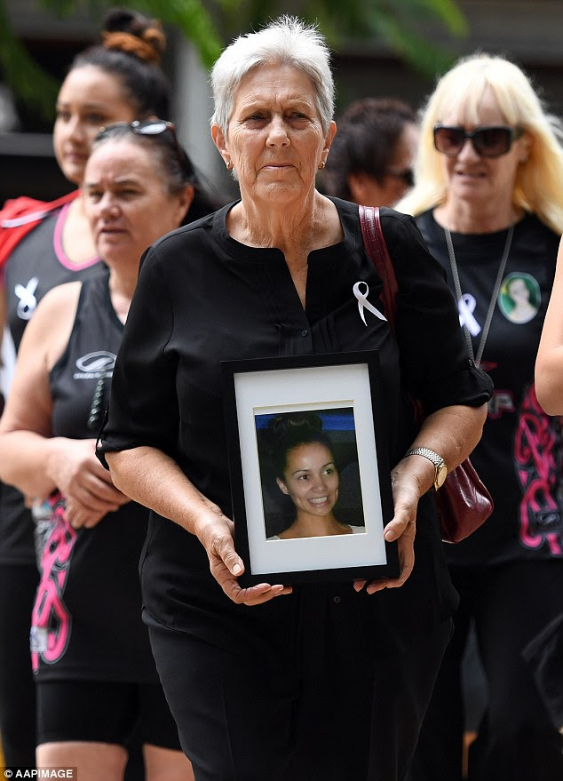 Supporters of the murdered mother arrived at the Supreme Court in Brisbane on Monday