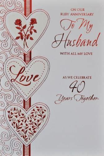 homemade anniversary cards for husband   Husband Ruby