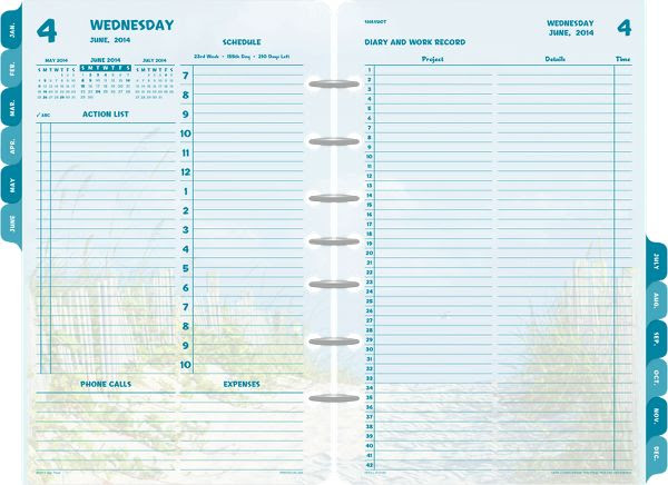 2 Page Daily Planner