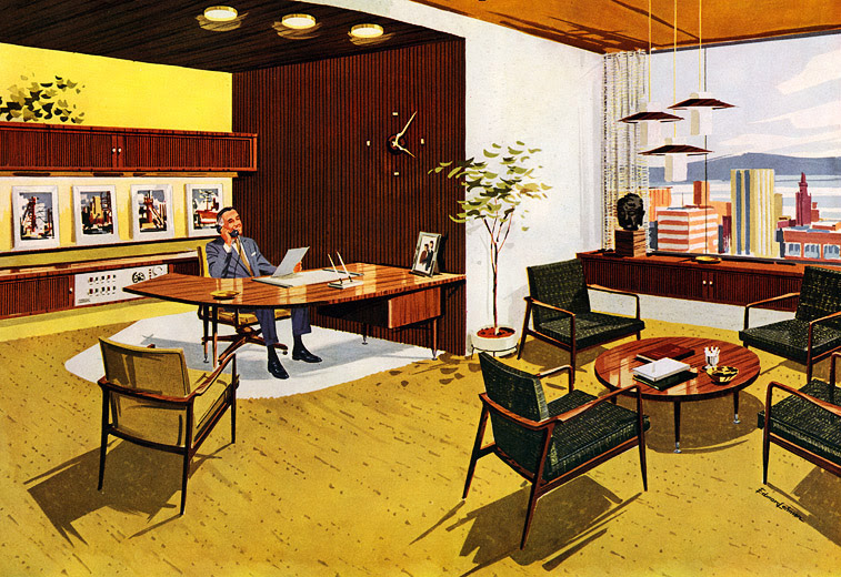 Mid Century Modern Office Design By Stow Davis Furniture Company