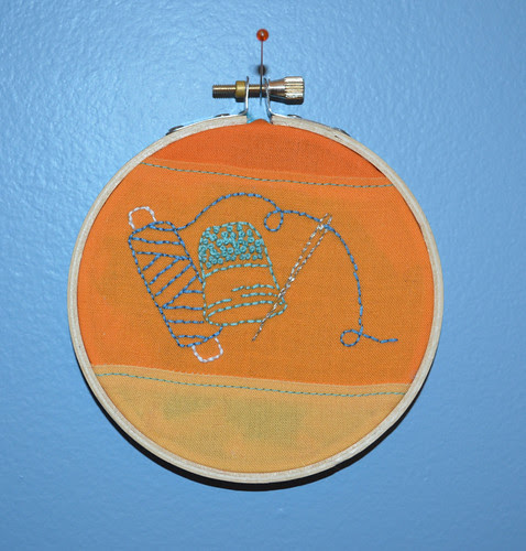 Awesome hoop of embroidery from Katherine