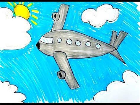 kolay ucak cizimi ve boyama   draw easy plane