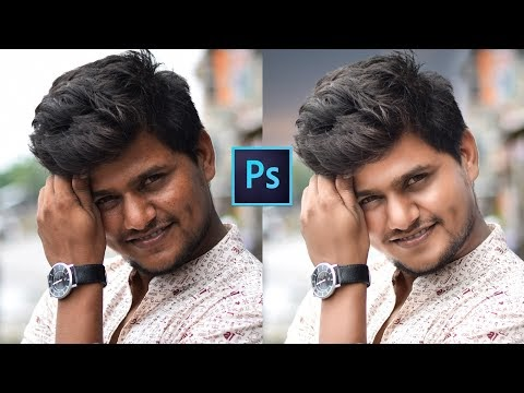 Man Shine & Glow Effect in face Editing Tutorial in Photoshop Step by St...