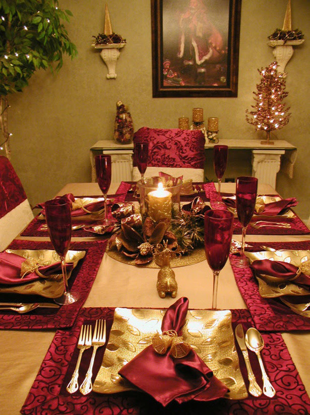 25 Popular Christmas Table Decorations On Pinterest All About