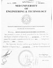 Certificate - Advanced Diploma of Mechanical Engineering